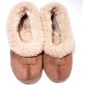 UGG Raglan Suede Slippers with Sheepskin
